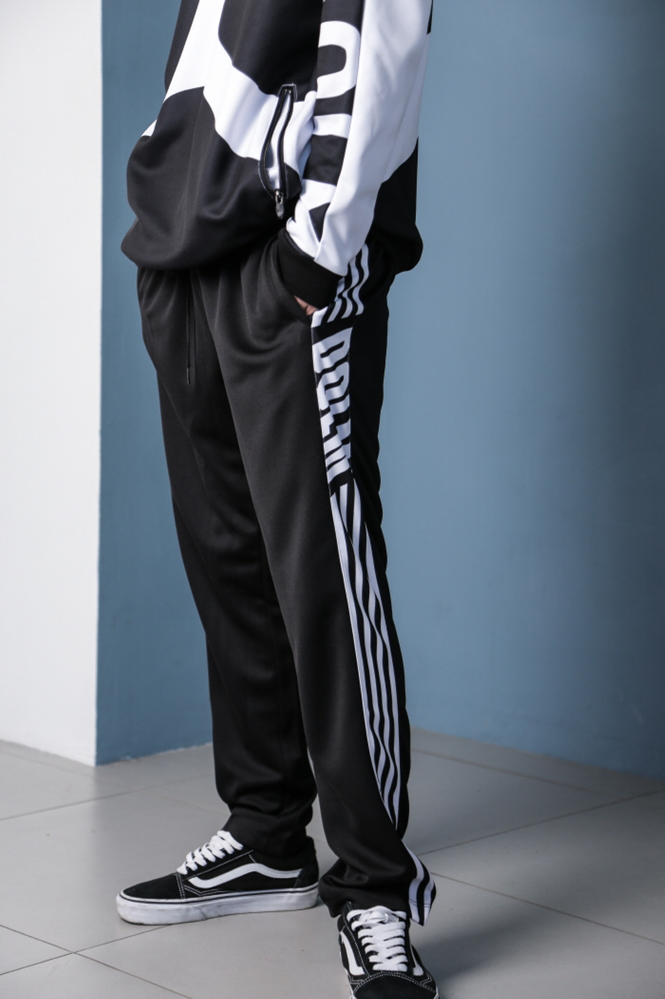 Logo training pants Black