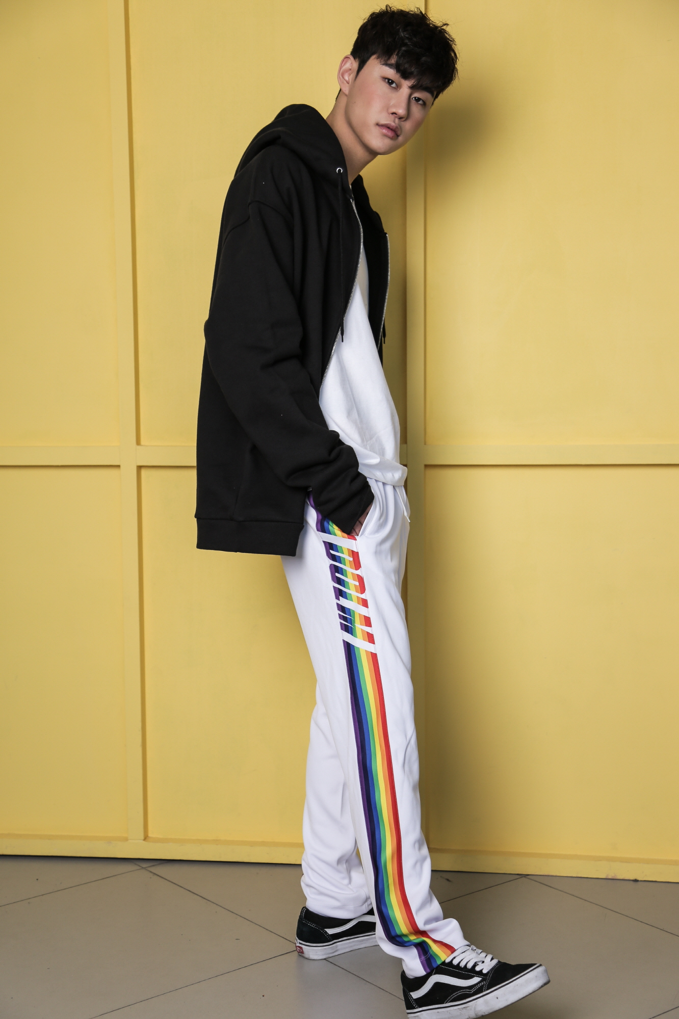 Rainbow training pants White