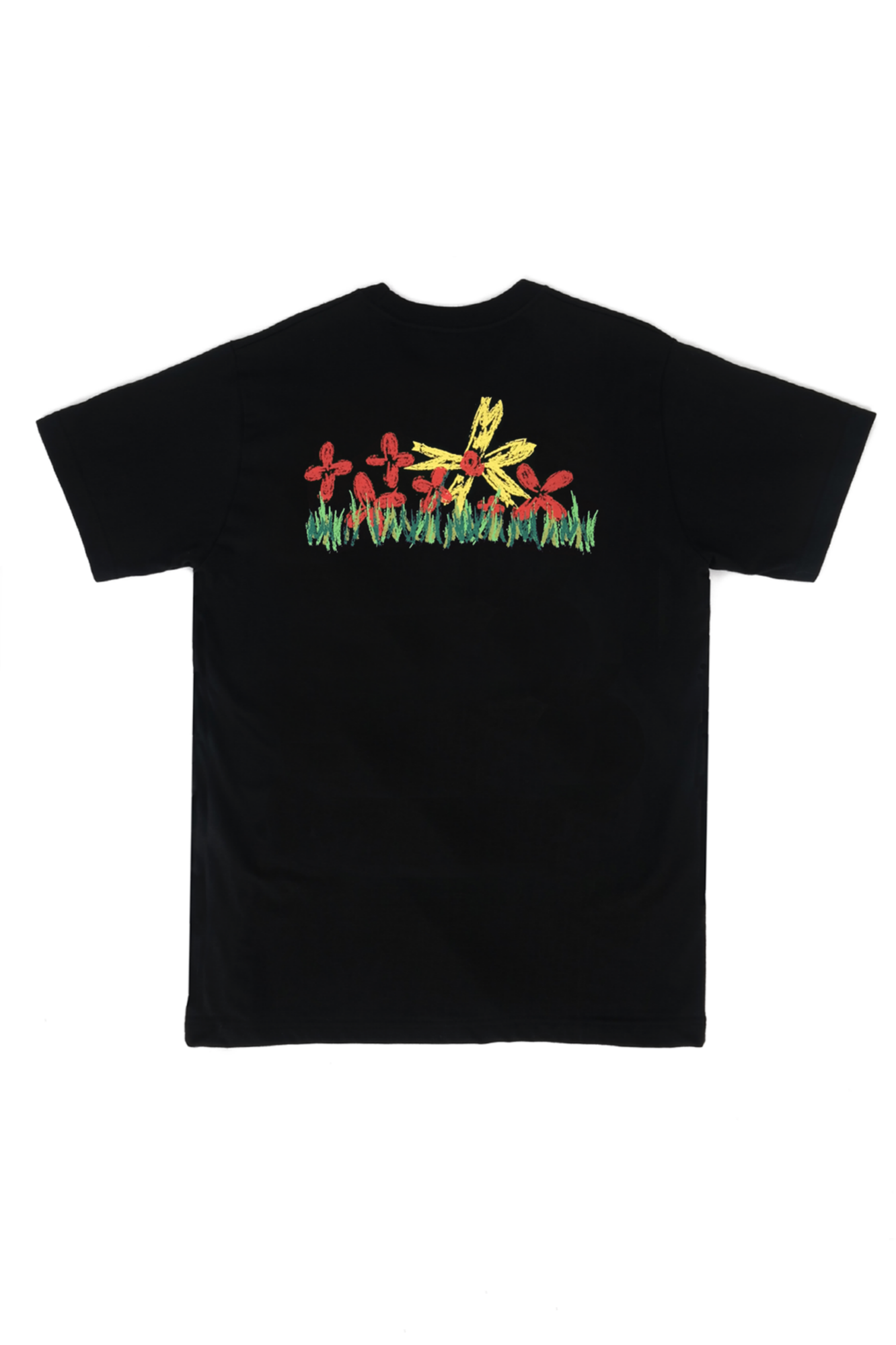 Crapas Flowers T-Shirts Black